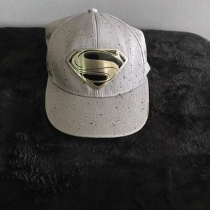 Superman Snapback Gray Baseball Cap